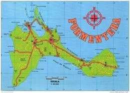 Landkarte / Map / Mapcard: Formentera (D-A211) - Maps