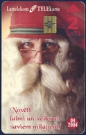 LATVIA - LETTLAND - LETTONIE LATTELEKOM 2 LATI CHIP PHONECARD TELECARTE CHRISTMAS SANTA-CLAUS Noël 2002 - Letland