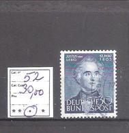 Allemagne RFA  N° 52 Oblitéré  Cote Yvert & Tellier 2006: 30,00 €. - [7] République Fédérale