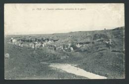 Fez -  Chantier Militaire, Extraction De La Pierre  ( Pelurage Hors Photo Dans L'angle )   - Mbf 35 - Fez (Fès)