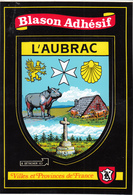 """Blason  Adhésif  """" L'AUBRAC """" - France"""
