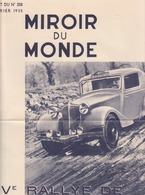 XIVème Rallye De Monte-carlo- Renault 1935 - Advertising