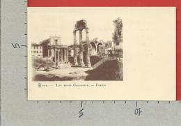 CARTOLINA NV ITALIA - ROMA - Les Trois Colonnes - Forum - Le Tre Colonne - 9 X 14 - Roma (Rome)