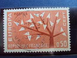 "1960-69   Timbre Oblitéré N° 1359    "" EUROPA ORANGE 0.50 F     ""     0.50 - Usados"