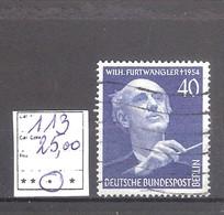 Allemagne RFA BERLIN  N° 113 Oblitéré Cote Yvert & Tellier 2006: 25,00 €. - Used Stamps