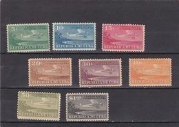 Cuba Nº A4 Al A11 Con Charnela - Aéreo