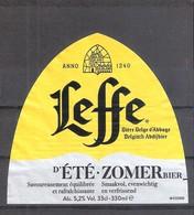 Etiquette De Bière Belge LEFFE D'ETE . - Beer
