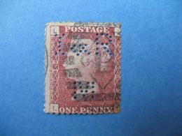 Perforé Perfin Lochung , Great Britain QV  IR&M   - Grande Bretagne Queen Victoria See, à Voir - Perfins