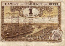 7041-2019    BILLET CHAMBRE DE COMMERCE DE DIEPPE - Chambre De Commerce