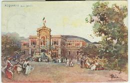 ESPOSIZIONE  DI MILANO 1906 - ACQUARIO -ARCH. LOCATI- VIAGGIATA -TIMBRO POSTE MILANO - NAPOLI - Esposizioni