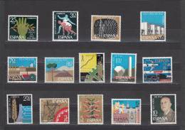 España Nº 1576 Al 1589 - 1961-70 Nuevos & Fijasellos