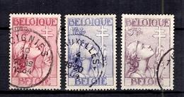 Belgique YT N° 381/383 Oblitérés. B/TB. A Saisir! - Belgique