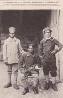 17. LA TREMBLADE. CPA. LES TIRAILLEURS MALGACHES EN 1917.LES 3 ENGAGES VOLONTAIRES POUR LA FRANCE - Guerre 1914-18