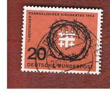 GERMANIA (GERMANY) - SG 1319  - 1963  EVANGELICAL CHURCH DAY  - USED° - [7] République Fédérale