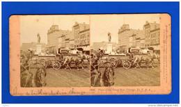 Quatre Photos Stéreoscopiques  BW Kilburn  Littleton N.H , Chicago , Philadelphie , New York .... - Photos