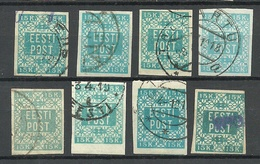 ESTLAND Estonia 1919 Michel 2 , Lot Colour Tones O - Estland