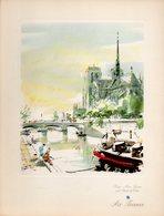 Menu Air France Ligne Paris Chicago Du 9 Mai 1954 - Menu