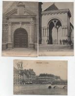 CPA Besançon Les Quais Vue Générale Prise De Bregille Lycée Victor Hugo Gymnase Temple Protestant Cour D'assises (5 Cart - Besancon