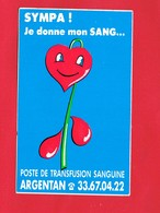 1 Autocollant SYMPA ! Je Donne Mon Sang... ARGENTAN - Autocollants
