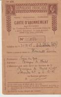 RÉPUBLIQUE FRANÇAISE - CARTE D'ABONNEMENT AUX EMISSIONS DE TIMBRES SPÉCIAUX - POSTES - TÉLÉGRAPHES - TÉLÉPHONES - 1948 - Historical Documents