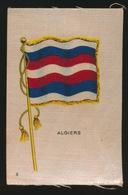 FLAGS OF ALL NATIONS  SOIE SUR PAPIER    8.5 X 5.5 CM    ===  ALGIERS - Zigaretten