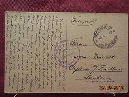 Carte De 1918 à Destination De Sachsen - Deutsche Post In Der Türkei