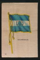 FLAGS OF ALL NATIONS  SOIE SUR PAPIER    8.5 X 5.5 CM    ===  NICARAGUA - Cigarette Cards