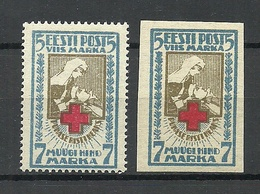 ESTLAND Estonia 1921/22 Michel 30 A + B MNH - Estonie
