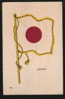 FLAGS OF ALL NATIONS  SOIE SUR PAPIER    8.5 X 5.5 CM    === JAPAN - Cigarette Cards