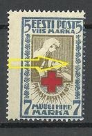 ESTLAND Estonia 1921/22 Michel 30 A MNH Perforation Swift Error Variety Abart - Estonie