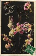 CPA FANTAISIE FLEURS -   FLEURS DE LYS ET GRAPPES DE FLEURS DU GENRE JACINTHES SAUVAGES ???? - Flowers