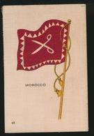 FLAGS OF ALL NATIONS  SOIE SUR PAPIER    8.5 X 5.5 CM    ===  MOROCCO - Cigarette Cards