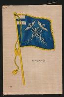 FLAGS OF ALL NATIONS  SOIE SUR PAPIER    8.5 X 5.5 CM    ===  FINLAND - Cigarette Cards