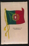 FLAGS OF ALL NATIONS  SOIE SUR PAPIER    8.5 X 5.5 CM    ===  REPUBLIC OF PORTUGAL - Cigarette Cards