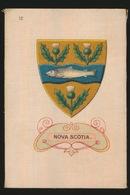 ARMS OF THE BRITISCH EMPIRE -  SOIE SUR PAPIER    8.5 X 5.5 CM    ===  NOVA SCOTIA - Cigarette Cards