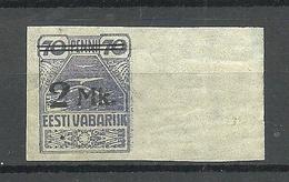 ESTLAND ESTONIA 1920 Michel 20 + Bogenrand MNH - Estland