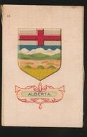 ARMS OF THE BRITISCH EMPIRE -  SOIE SUR PAPIER    8.5 X 5.5 CM    ===  ALBERTA - Cigarette Cards