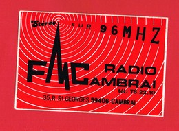 1 Autocollant FM RADIO 35 RUE ST GEORGES CAMBRAI - Autocollants