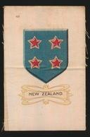 ARMS OF THE BRITISCH EMPIRE -  SOIE SUR PAPIER    8.5 X 5.5 CM    ===  NEW ZEALAND - Cigarette Cards