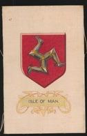 ARMS OF THE BRITISCH EMPIRE -  SOIE SUR PAPIER    8.5 X 5.5 CM    ===  ISLE OF MAN - Cigarette Cards