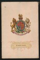 ARMS OF THE BRITISCH EMPIRE -  SOIE SUR PAPIER    8.5 X 5.5 CM    ===  ENGLAND - Cigarette Cards