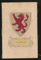 ARMS OF THE BRITISCH EMPIRE -  SOIE SUR PAPIER    8.5 X 5.5 CM    ===  CYPRUS - Cigarette Cards