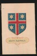 ARMS OF THE BRITISCH EMPIRE -  SOIE SUR PAPIER    8.5 X 5.5 CM    ===  SOUTH AUSTRALIA - Cigarette Cards