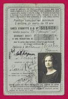 Carte D'identité Des Chemins De Fer Avec Réduction De Tarif Datée De 1928 - Protagoniste Installée à Paris - Chemins De Fer