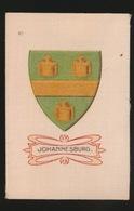 ARMS OF THE BRITISCH EMPIRE -  SOIE SUR PAPIER    8.5 X 5.5 CM    ===   JOHANNESBURG - Cigarette Cards