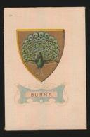 ARMS OF THE BRITISCH EMPIRE -  SOIE SUR PAPIER    8.5 X 5.5 CM    ===   BURMA - Cigarette Cards