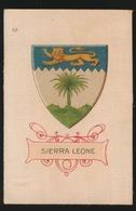 ARMS OF THE BRITISCH EMPIRE -  SOIE SUR PAPIER    8.5 X 5.5 CM    ===   SIERRA LEONE - Cigarette Cards