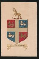 ARMS OF THE BRITISCH EMPIRE -  SOIE SUR PAPIER    8.5 X 5.5 CM    ===   NEWFONDLAND - Cigarette Cards