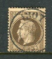 Rare N° 30 Cachet Du Bureau De Passe De Dijon 1307 - 1863-1870 Napoleone III Con Gli Allori