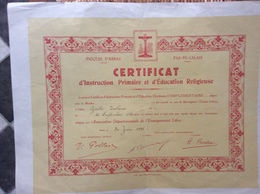 INSTITUT STÉNOGRAPHIQUE DE FRANCE  Certificat De Récompense  PARIS  Juin 1939 - Diplomas Y Calificaciones Escolares
